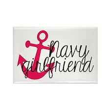 Navy Girlfriend Rectangle Magnet