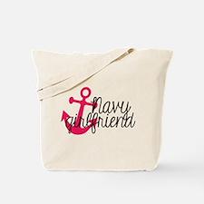 Navy Girlfriend Tote Bag