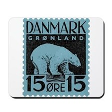 2001 Greenland Polar Bear Postage Stamp Mousepad