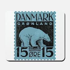 2001 Greenland Polar Bear Postage Stamp Mousepad