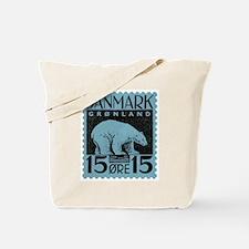 2001 Greenland Polar Bear Postage Stamp Tote Bag
