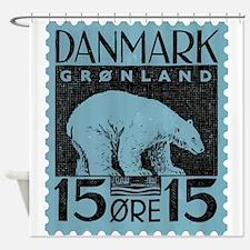 2001 Greenland Polar Bear Postage Stamp Shower Cur