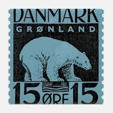 2001 Greenland Polar Bear Postage Stamp Tile Coast