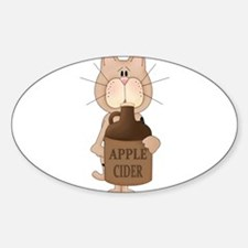 cat with Apple Cider Decal