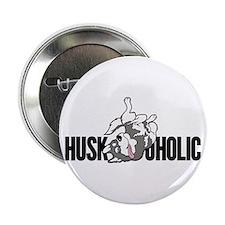 "Huskoholic with Blue Eyes 2.25"" Button"