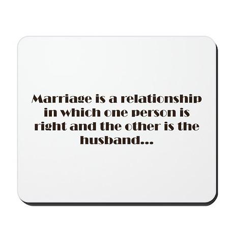 Marriage Mousepad