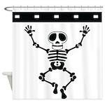 Cute Skeleton Shower Curtain