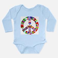 World Peace Long Sleeve Infant Bodysuit Body Suit