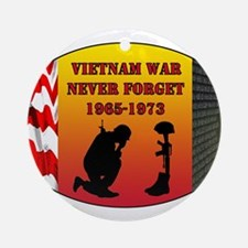 Vietnam War Memorial Ornament (Round)