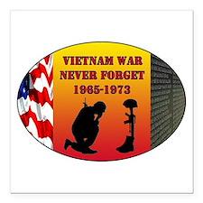 """Vietnam War Memorial Square Car Magnet 3"""" x 3"""""""