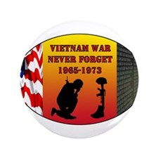 "Vietnam War Memorial 3.5"" Button"