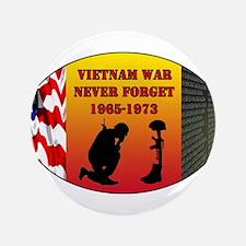 """Vietnam War Memorial 3.5"""" Button"""