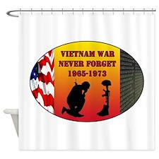 Vietnam War Memorial Shower Curtain