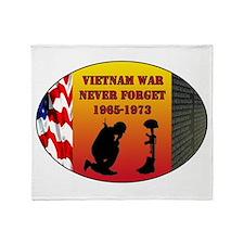 Vietnam War Memorial Throw Blanket
