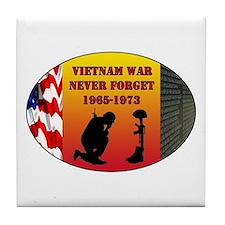 Vietnam War Memorial Tile Coaster