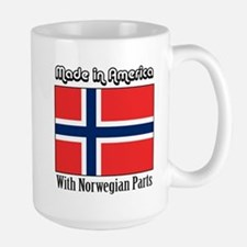 Norwegian Parts Large Mug