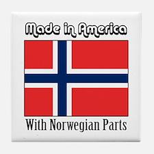 Norwegian Parts Tile Coaster