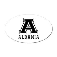 Albania Designs 20x12 Oval Wall Decal