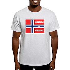 Norwegian by Marriage Ash Grey T-Shirt
