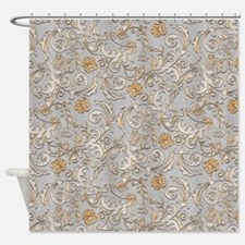 Gold And Silver Shower Curtains Gold And Silver Fabric Shower