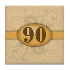 90th Birthday / Anniversary Tile Coaster