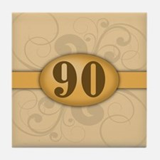 90th Birthday / Anniversary Tile Coaster