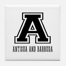 Antigua And Barbuda Designs Tile Coaster