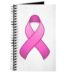 Hot Pink Awareness Ribbon Journal