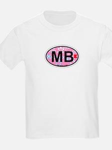 Miami Beach - Oval Design. T-Shirt