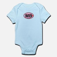 Miami Beach - Oval Design. Infant Bodysuit