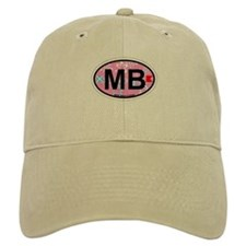 Miami Beach - Oval Design. Baseball Baseball Cap
