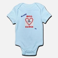 heart bulldog Body Suit
