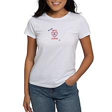 heart bulldog T-Shirt