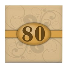 80th Birthday / Anniversary Tile Coaster