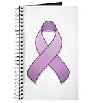Lavender Awareness Ribbon Journal