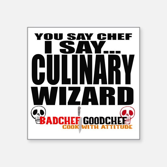 "I am a Culinary Wizard Square Sticker 3"" x 3"""