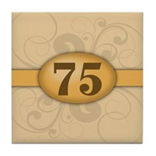75th Birthday / Anniversary Tile Coaster