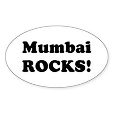 Mumbai Rocks! Oval Decal