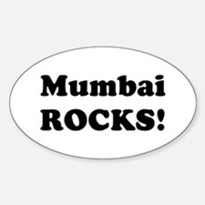Mumbai Rocks! Oval Decal