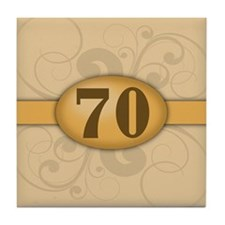 70th Birthday / Anniversary Tile Coaster