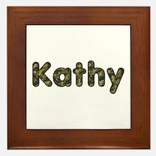 Kathy Army Framed Tile