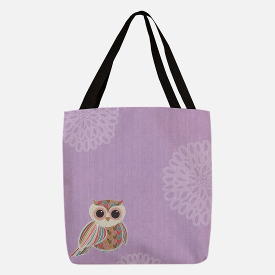 Cute Flower child Polyester Tote Bag