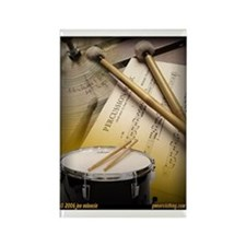 Drums Art 2 Rectangle Magnet