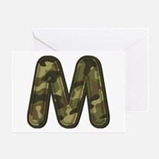M Army Greeting Card