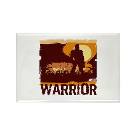 Warrior 2 Rectangle Magnet