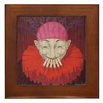 Smoking Clown: Jean D'ylen, 1 Framed Tile