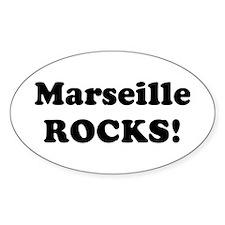 Marseille Rocks! Oval Decal