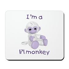 I'm a li'l monkey (lavender) Mousepad