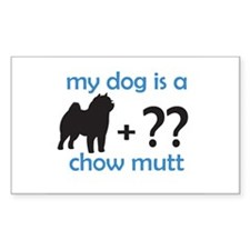 Chow Mutt Rectangle Decal