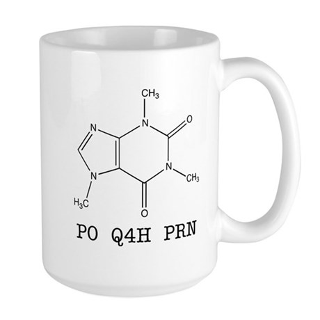 Large Mug - Caffeine Molecule Prescription